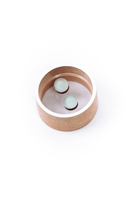 OkiikO Asorti Stud Earrings (Large Mint Circles)