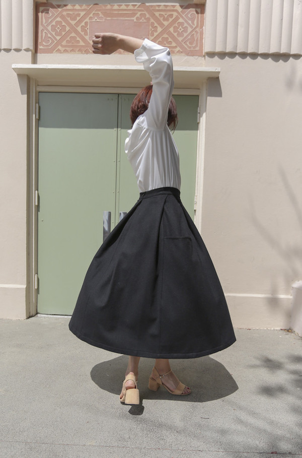 Wolcott : Takemoto Gladys Skirt in Black