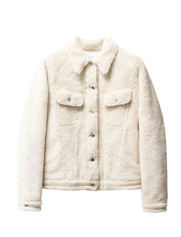 MM6 by Maison Margiela Womens Teddy Bear Denim Jacket - Ecru