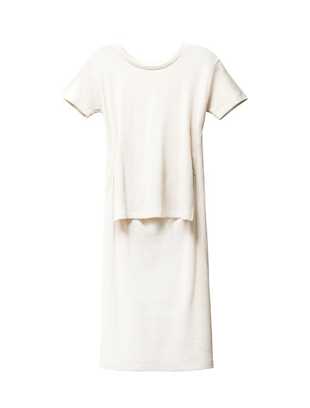 MM6 by Maison Margiela Womens Waffle Dress Calico