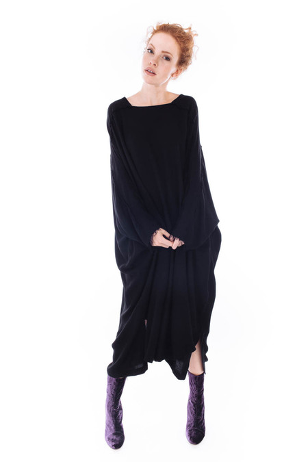 Black Crane Dome Dress (Black)