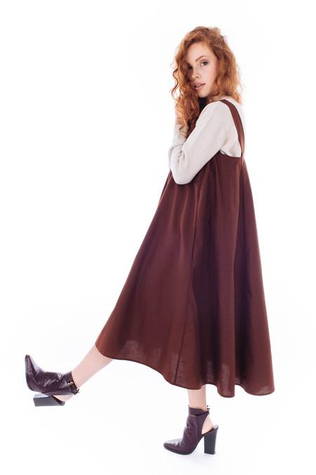 Kowtow Iris Dress (Brick)