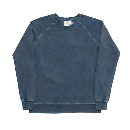Olderbrother Hand Me Down - Classic Crew - Indigo Plus