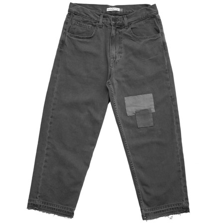 Olderbrother Patched Denim Five Pocket - Gray