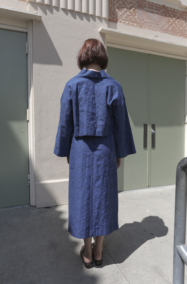 Horses Atelier Tie Skirt in Japanese Indigo