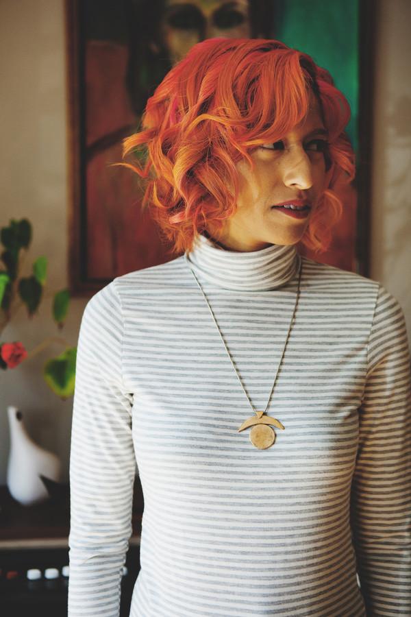 Betina Lou Viviane Turtleneck (Ivory & Grey Stripes)