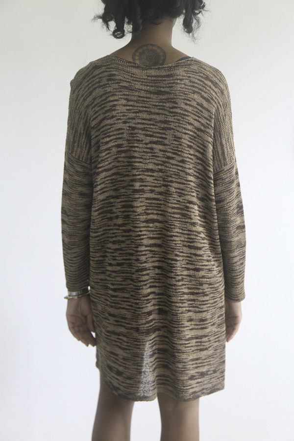 The Shudio Vintage Metallic Spacedye Knit Dress