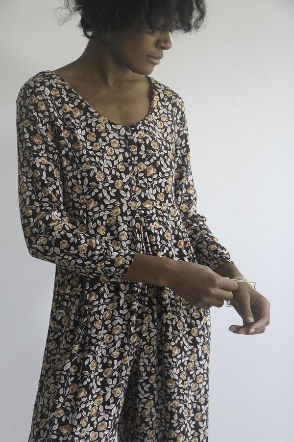 The Shudio Vintage Floral Jumpsuit