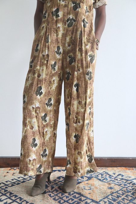 The Shudio Vintage Leaf Print Jumpsuit