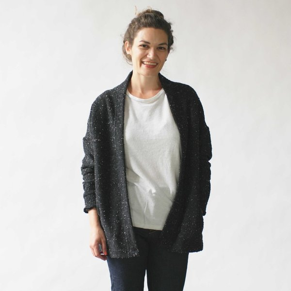 Make It Good Pebble Knit Cardigan in Blue