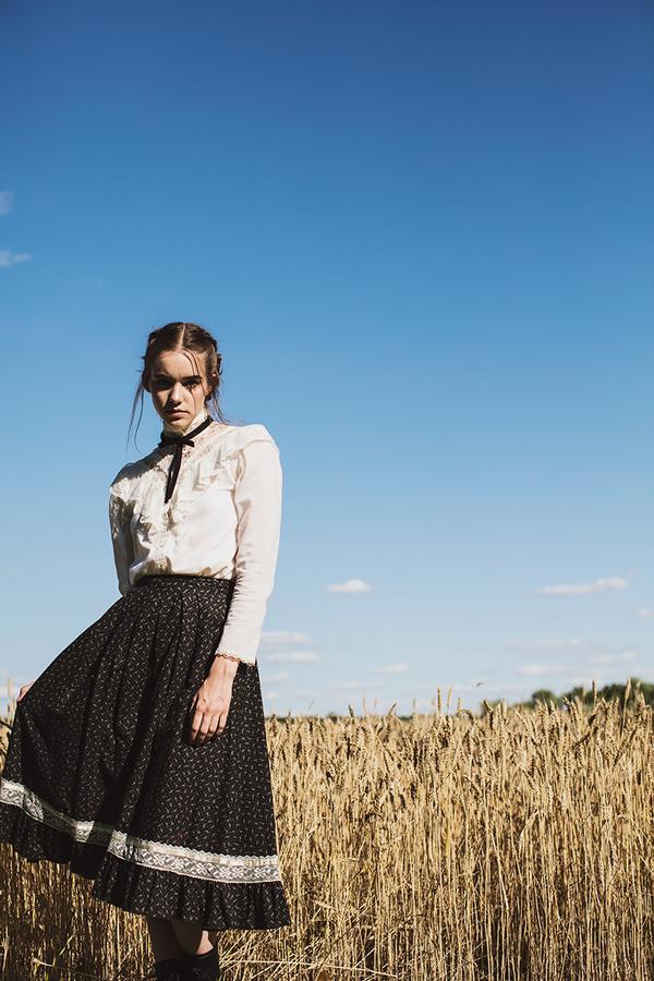Gunne Sax Printed Prarie Skirt