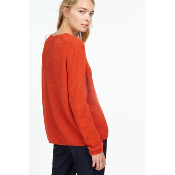 closed v-neck sweater