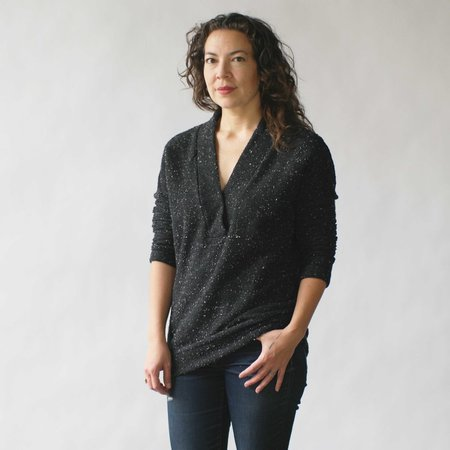 Make It Good Pebble Knit Tunic in Black