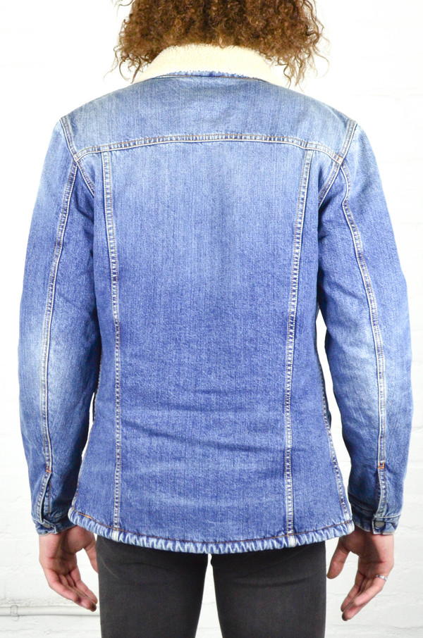 Nudie Lenny Tangerine Blue Denim Jacket