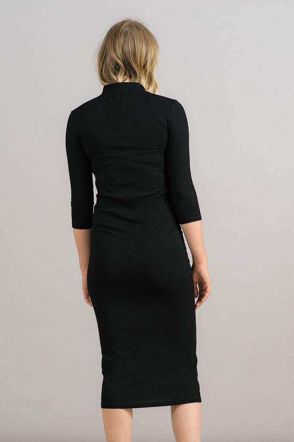 Just Female Rainy Zip Mock Neck Dress