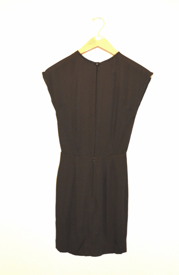 DESIGNERS REMIX - Twist Front Black Dress