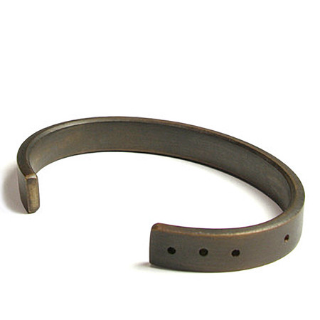 marmol radziner thin distressed bronze cuff