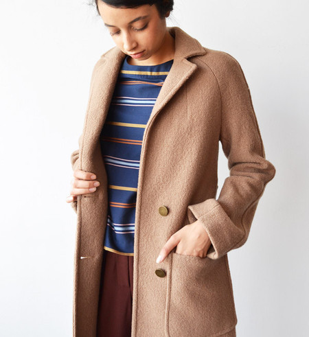 Apiece Apart Camel Taos Wrap Coat