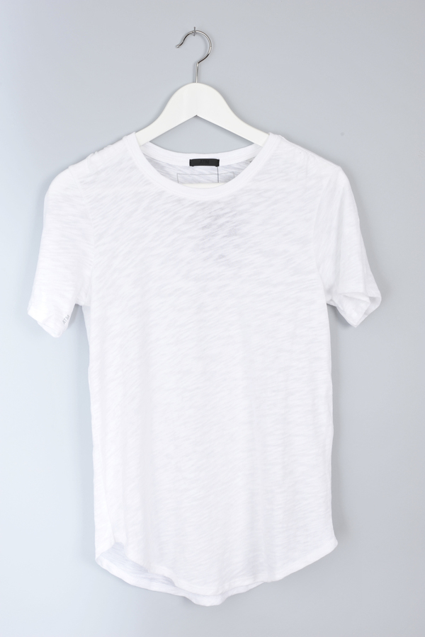 Slub Crew Neck White Tee by ATM
