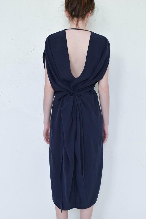 7115 By Szeki Signature Kimono Dress in Navy
