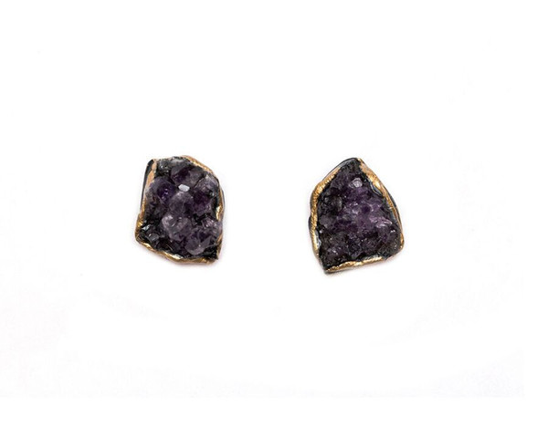 Adina Mills Amethyst Stud Earrings