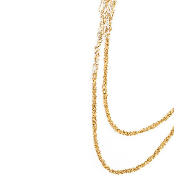Arielle De Pinto 4-Tone Simple Necklace in Gold + Silver