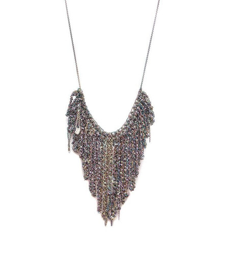 Arielle De Pinto String Fringe Necklace in Spectrum