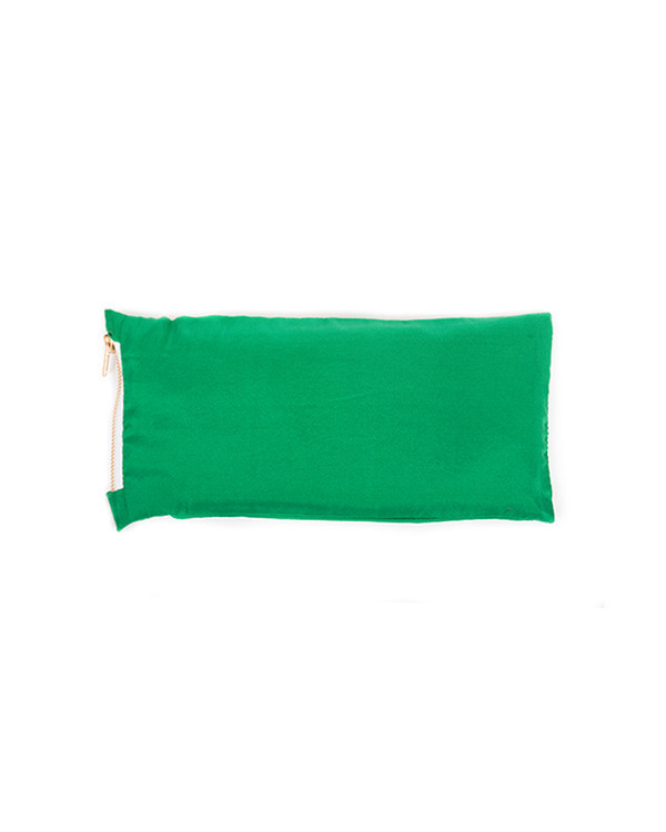 Chay Silk Eye Pillow in Green