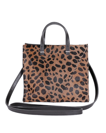 Clare V. Simple Tote in Leopard Hair