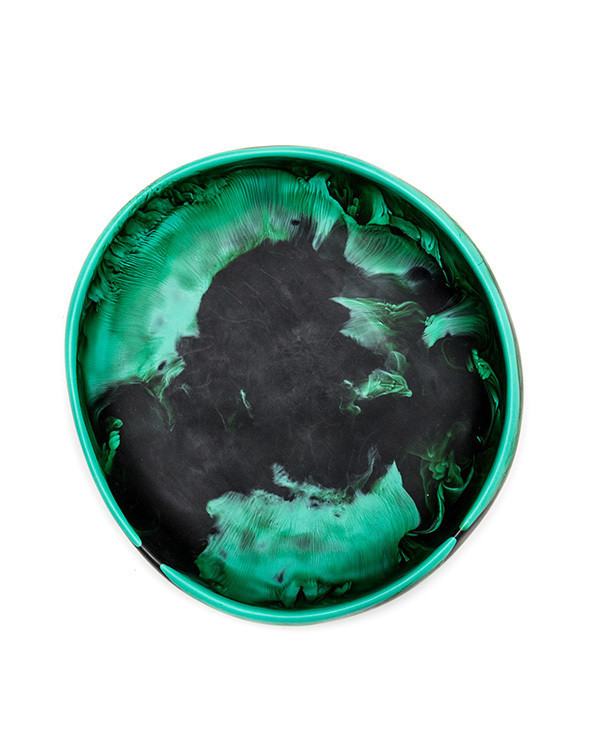 Dinosaur Designs Medium Earth Bowl in Emerald Swirl