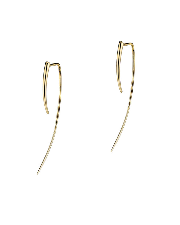 Gabriela Artigas XL Infinite Tusk Earrings in 14K Gold