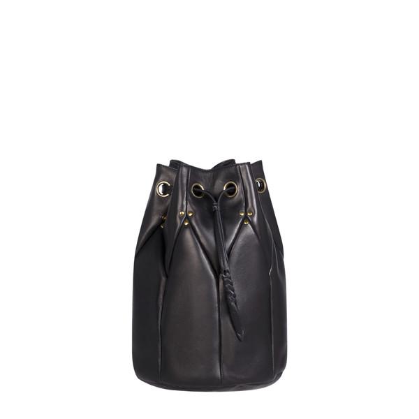 Jerome Dreyfuss Large Popeye Bucket Bag in Black Lambskin