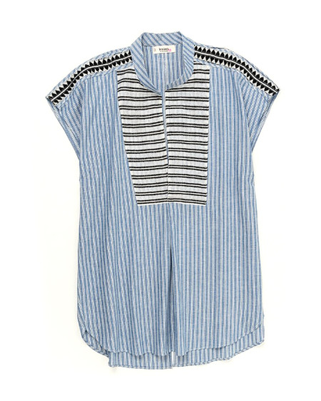 LemLem Mara Shirtdress in Blue