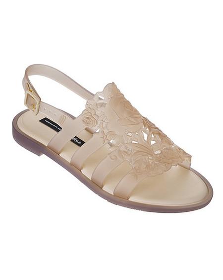 Melissa Boemia Flower Sandal in Beige