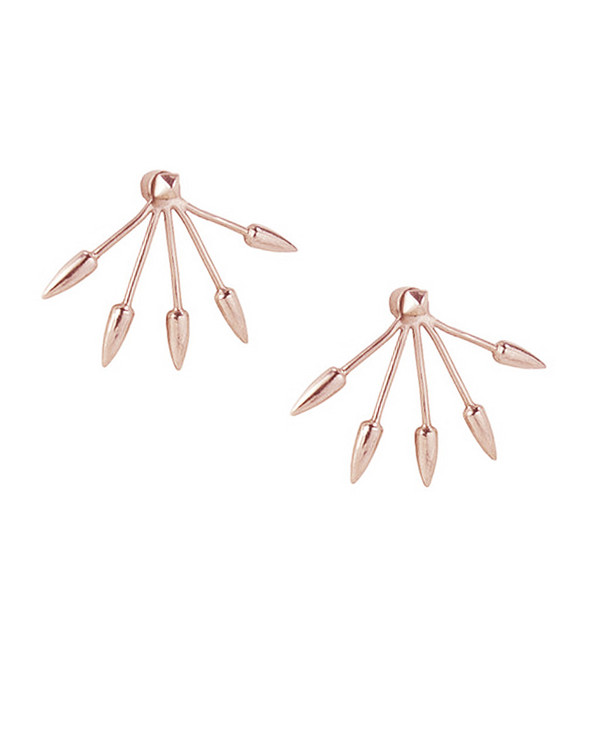 Pamela Love 5 Spike Ear Jacket in Rose Gold