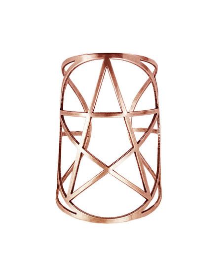 Pamela Love Mini Pentagram Cuff in Rose Gold