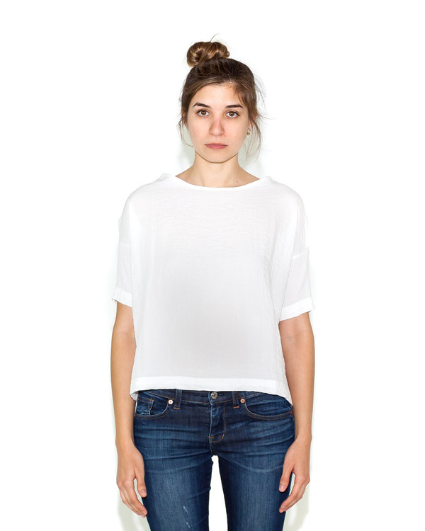 Shaina Mote Bateau Top In White