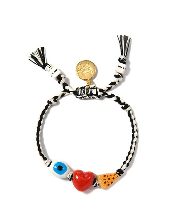 Venessa Arizaga I Heart Pizza Bracelet