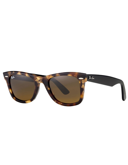 Ray-Ban Wayfarer Sunglasses Spotted Brown Havana