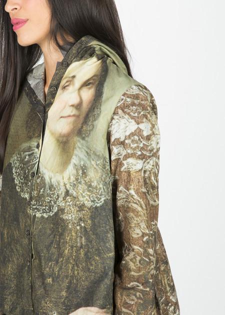 Rundholz Hooded Ruffle Shirt