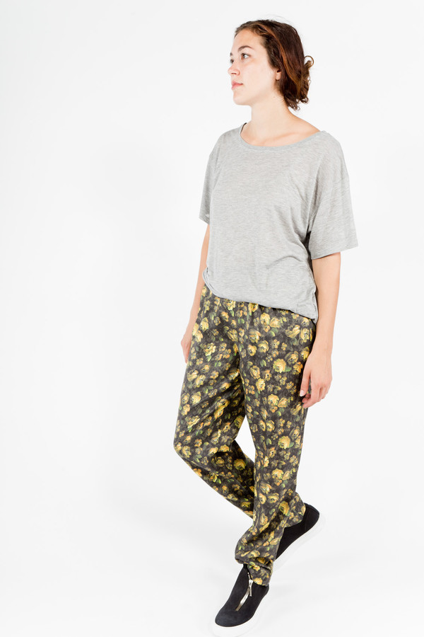 Band of Outsiders Gold Flower Pants