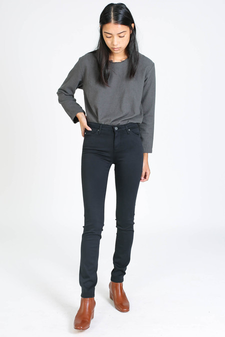 AG Jeans Sateen Prima in Super Black