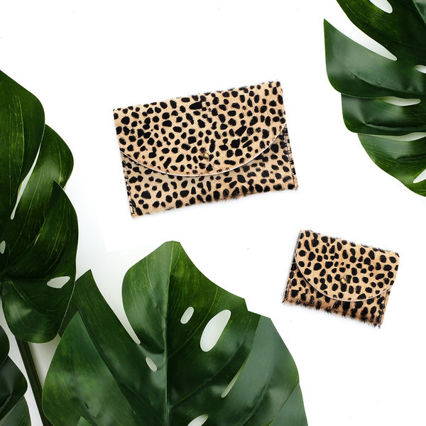 Primecut TINY SPOTTED COWHIDE PASSPORT CLUTCH