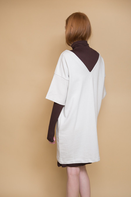 Kowtow Snap Shot Dress - Ivory