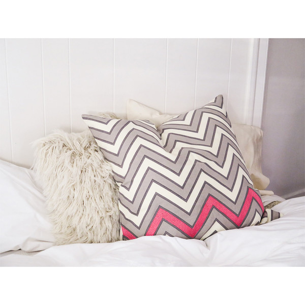 Erica Tanov embroidered zigzag euro throw pillow