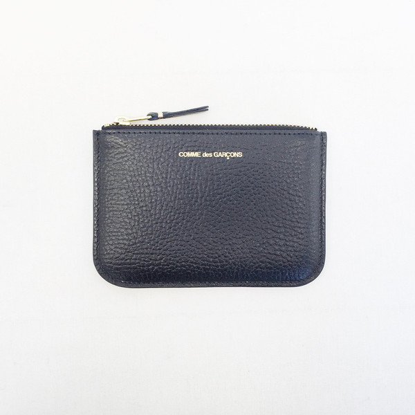 Comme des Garcons -  Small Black / Blue Inside Zip-up Pouch