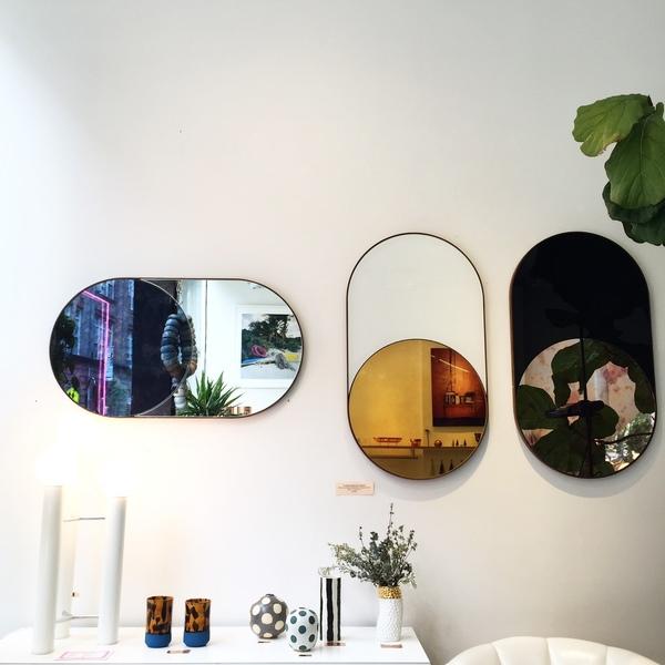 Bower Cylinder Mirror (Antiqued Cobalt)