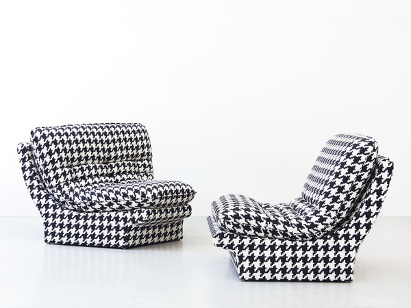 Late 1970s Herringbone Lounge Chairs