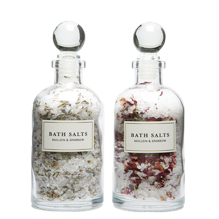 Mullein & Sparrow Rose & Lavender Bath Salt Set