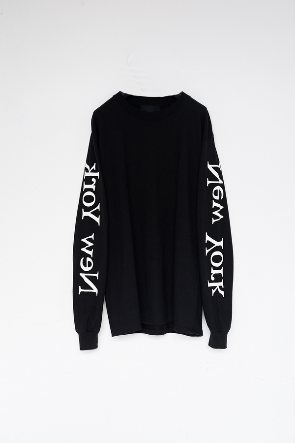 Unisex Assembly New York Cotton L/S New York Logo T-Shirt - Black